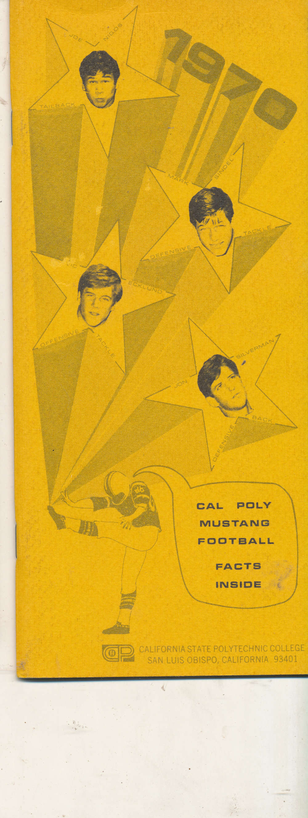 1970 Cal Poly San Luis Obispo Football Media Press Guide