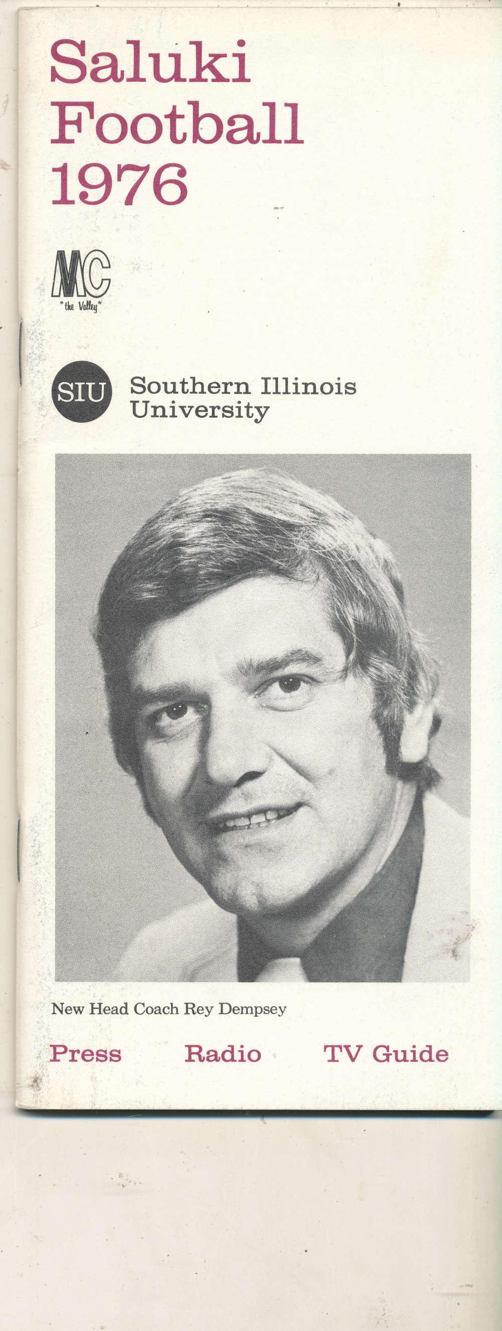 1976 SIU Southern Illinois University Football Media Press Guide