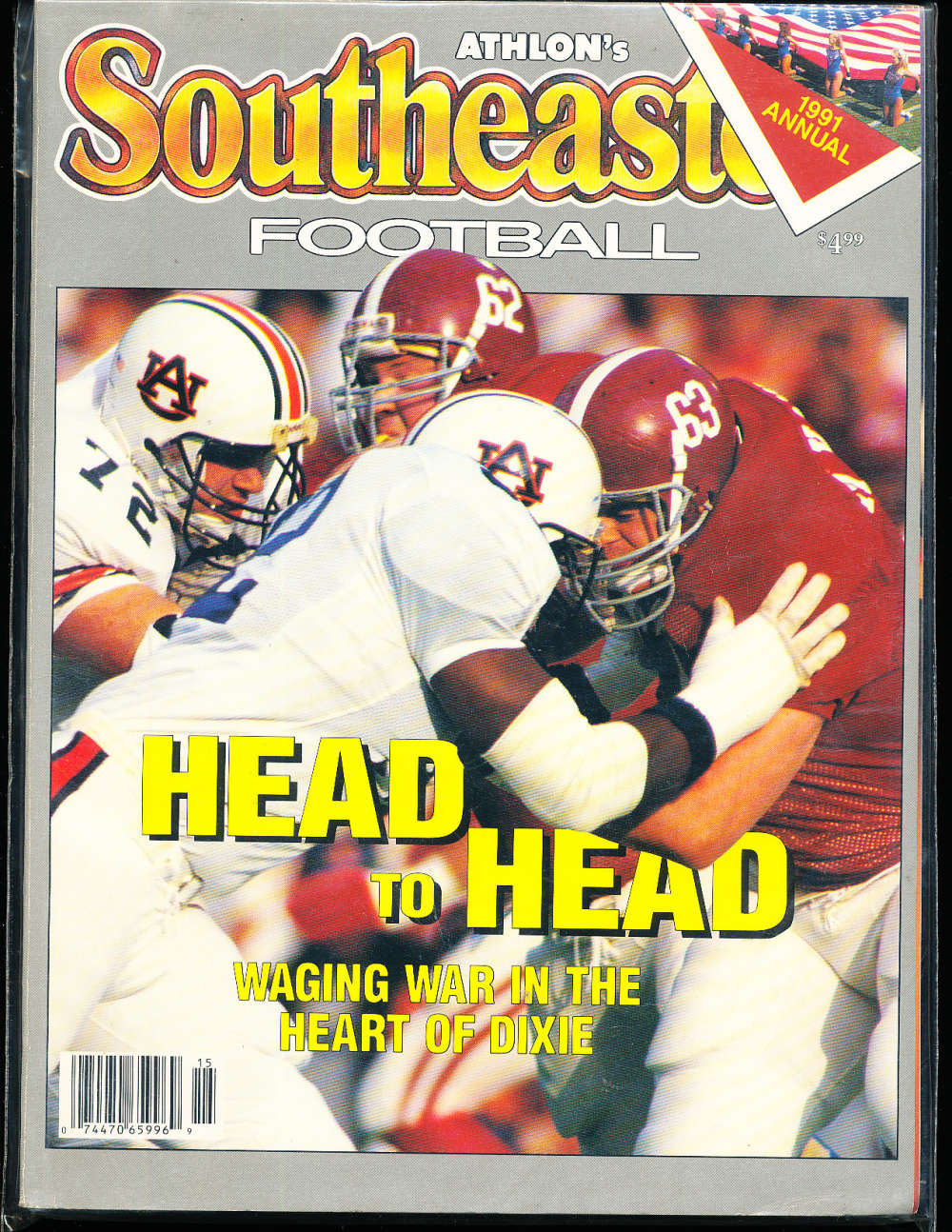 1991 SEC Southeastern Conference alabama Athlon National College Football Annual Yearbook Guide