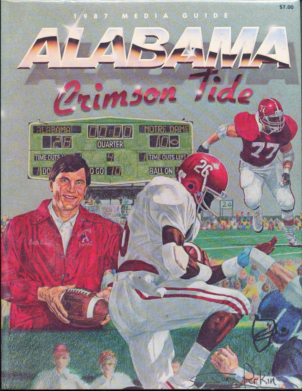 1987 University of Alabama football media guide
