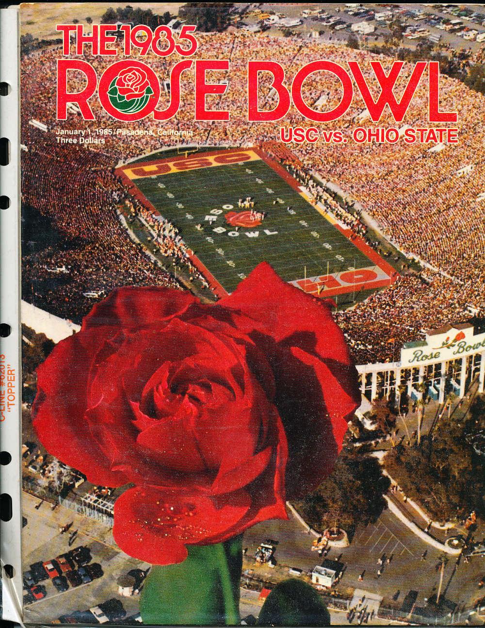 1985 Rose Bowl Program Usc vs Ohio State