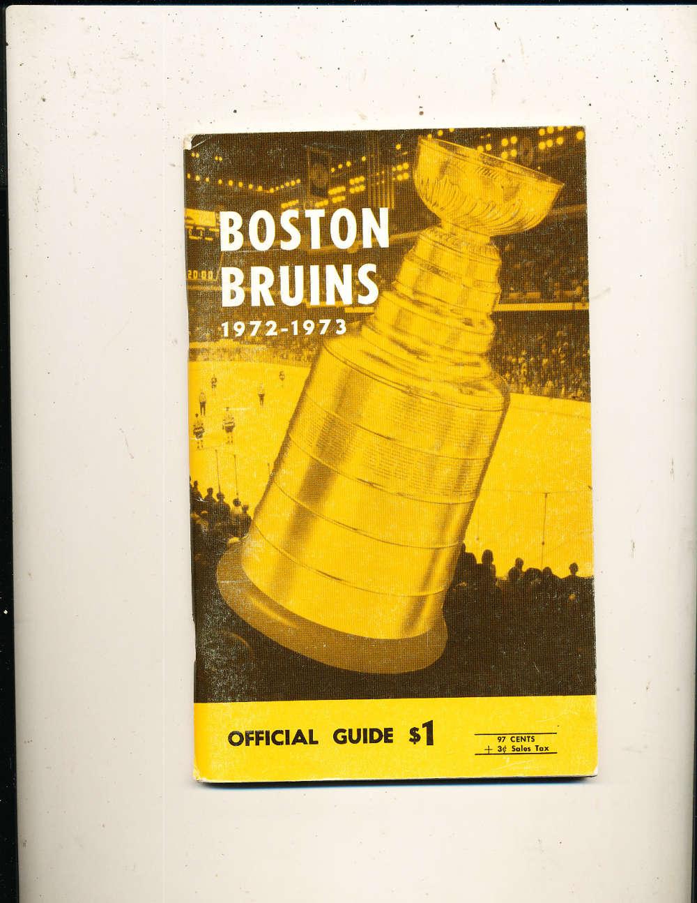 1972 Boston Bruins press guide bxguides em