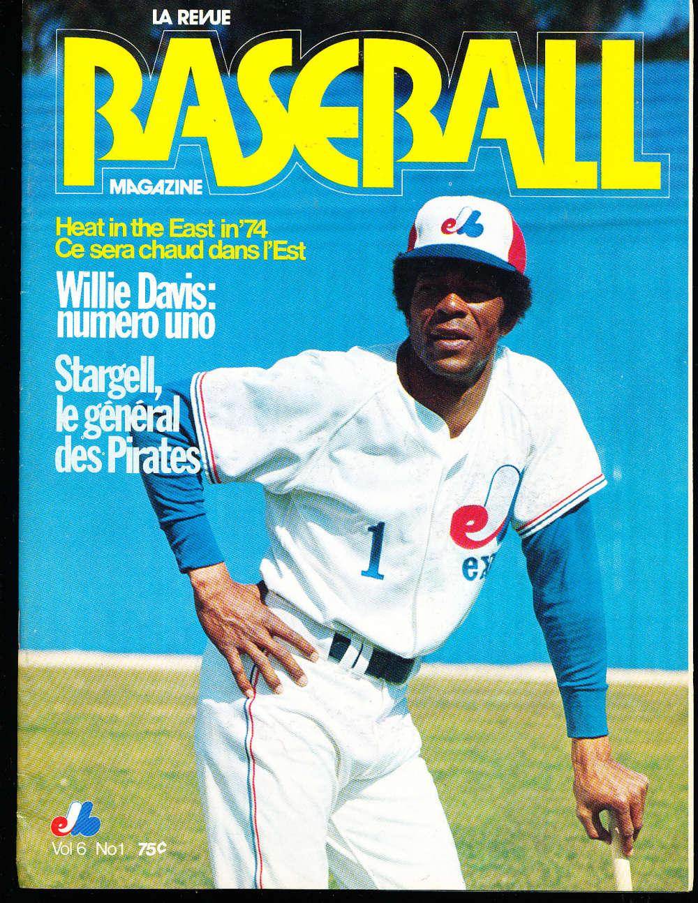1974 Montreal Expos Baseball yearbook vol 6 #1 Willie Davis