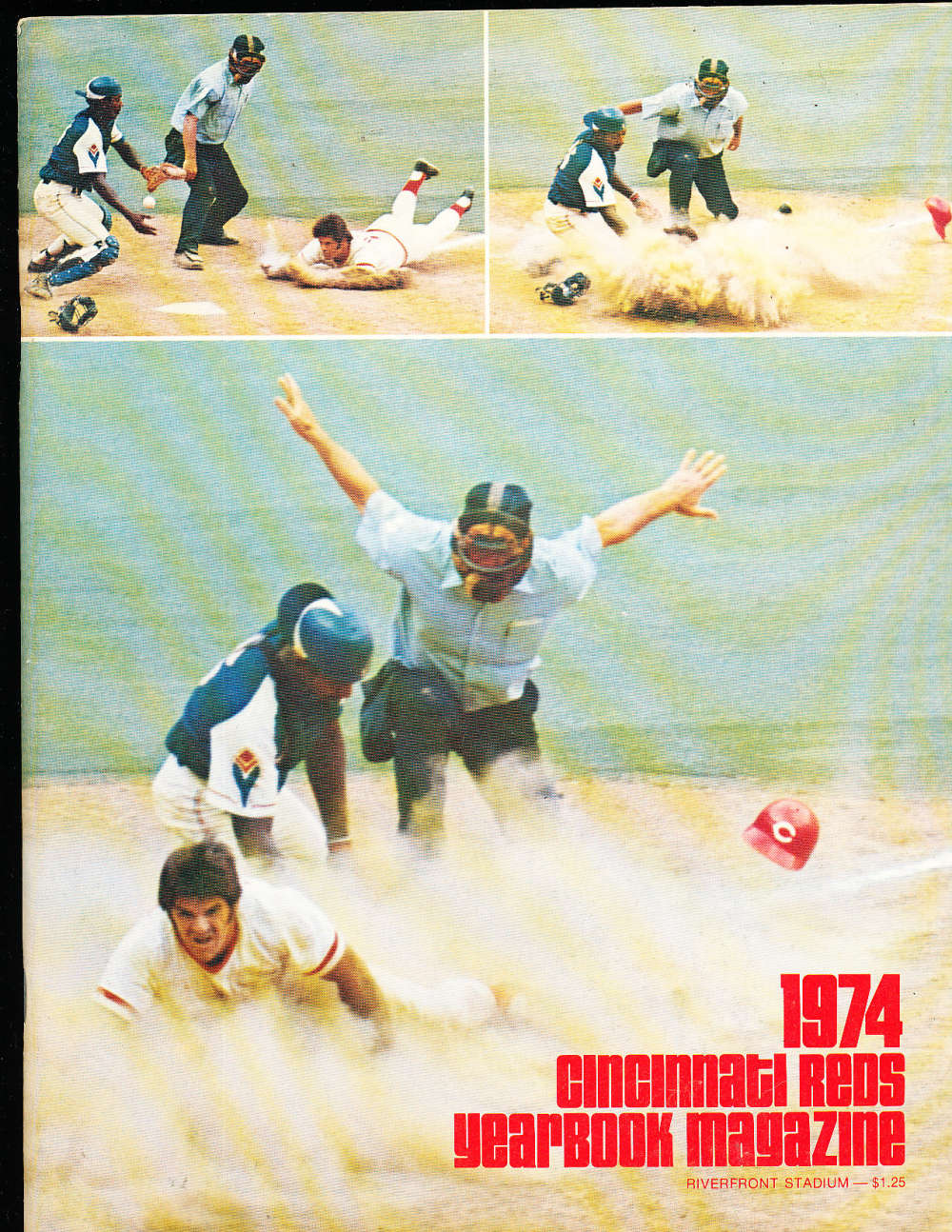 1974 Cincinnati reds Yearbook nm bxyb