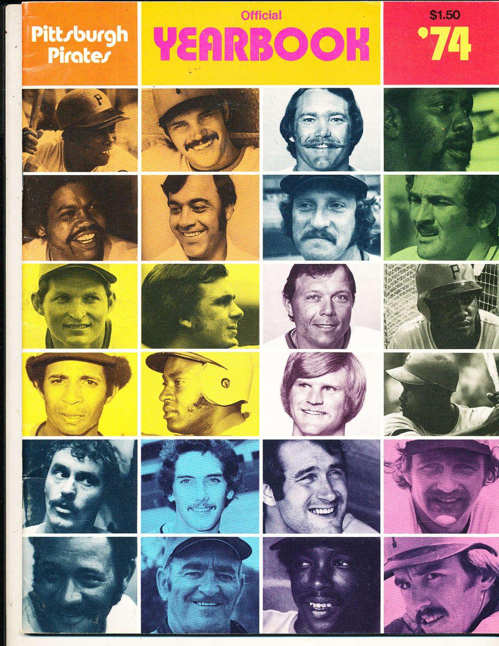 1974 Pittsburgh Pirates Yearbook nm bxyb