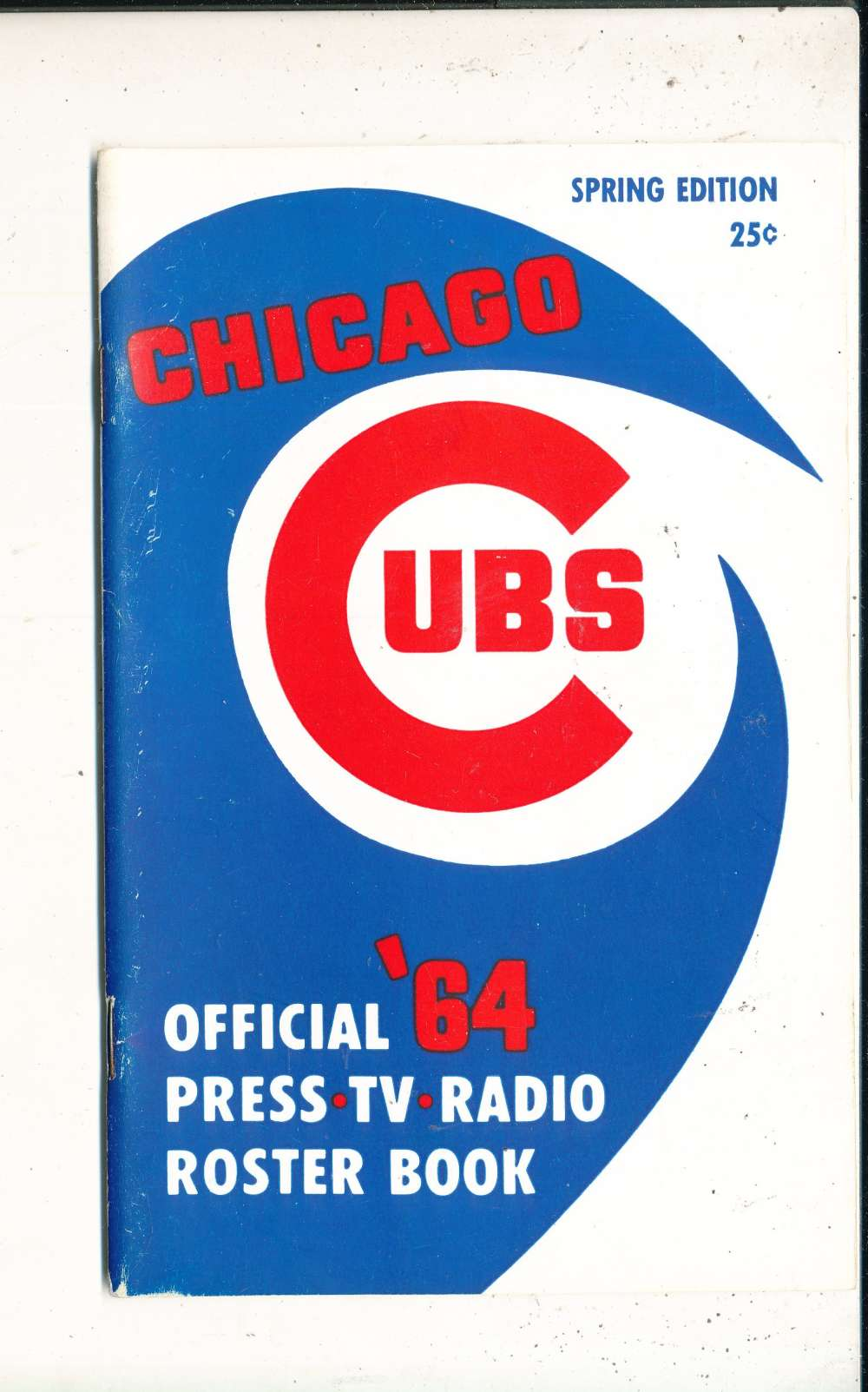 1964 chicago Cubs Media Guide Spring edition nm bxyb