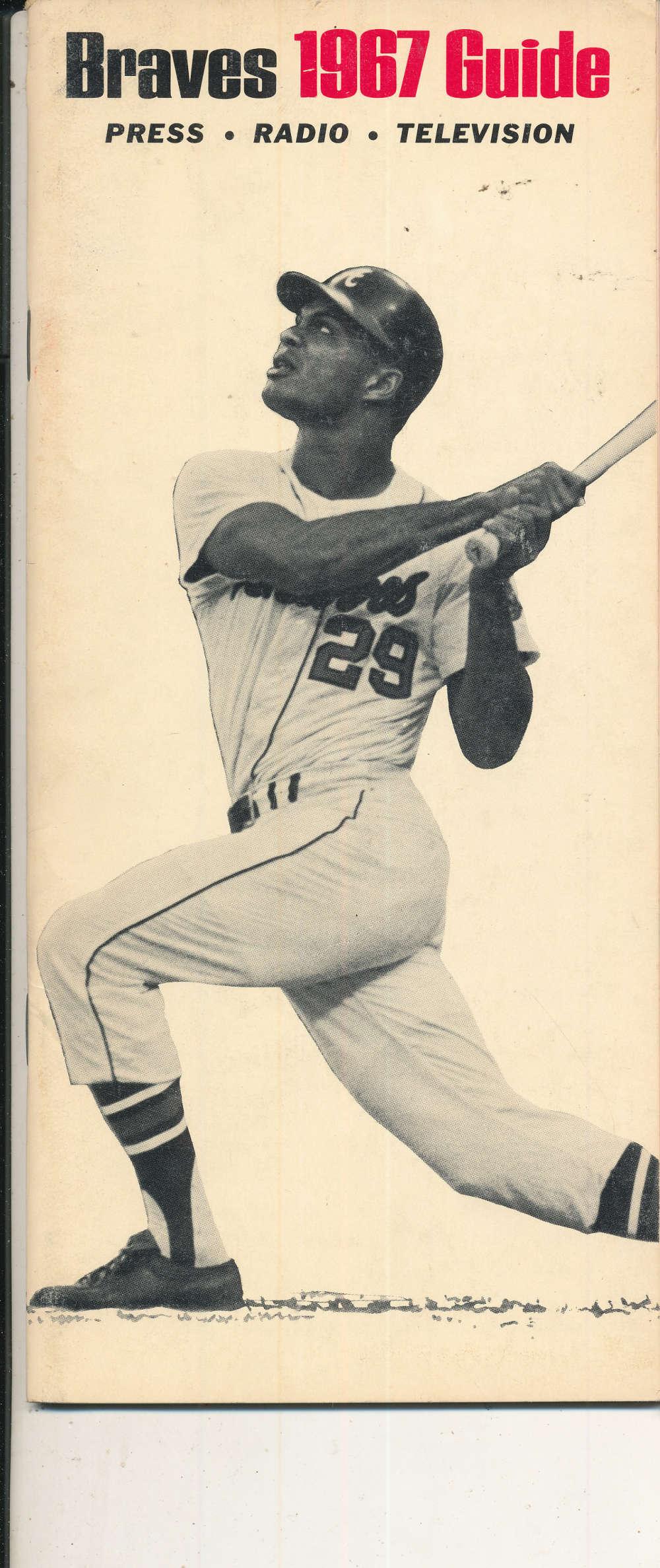 1967 Atlanta Braves Press Media Guide em bxguide