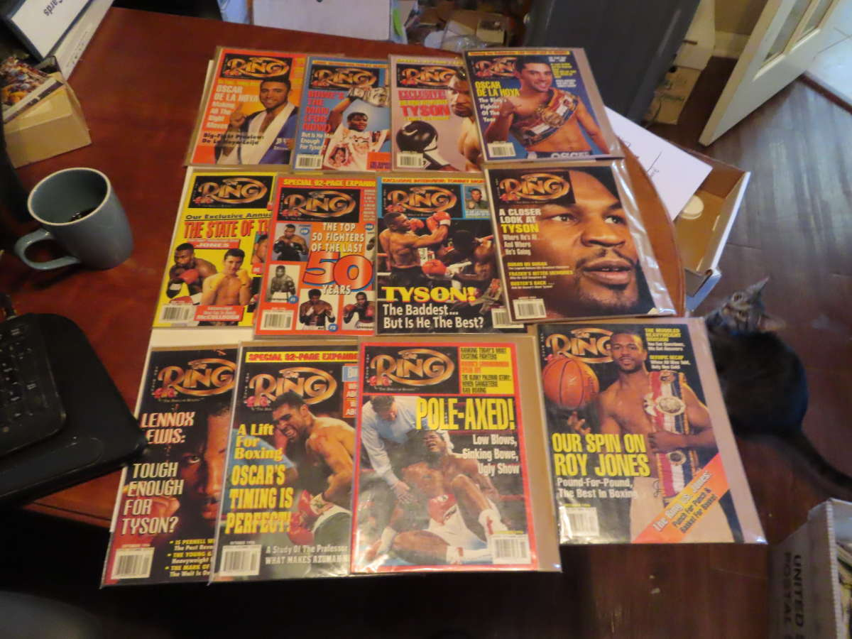 1996 Ring Magazine nice condition 12 issues full year em/nm