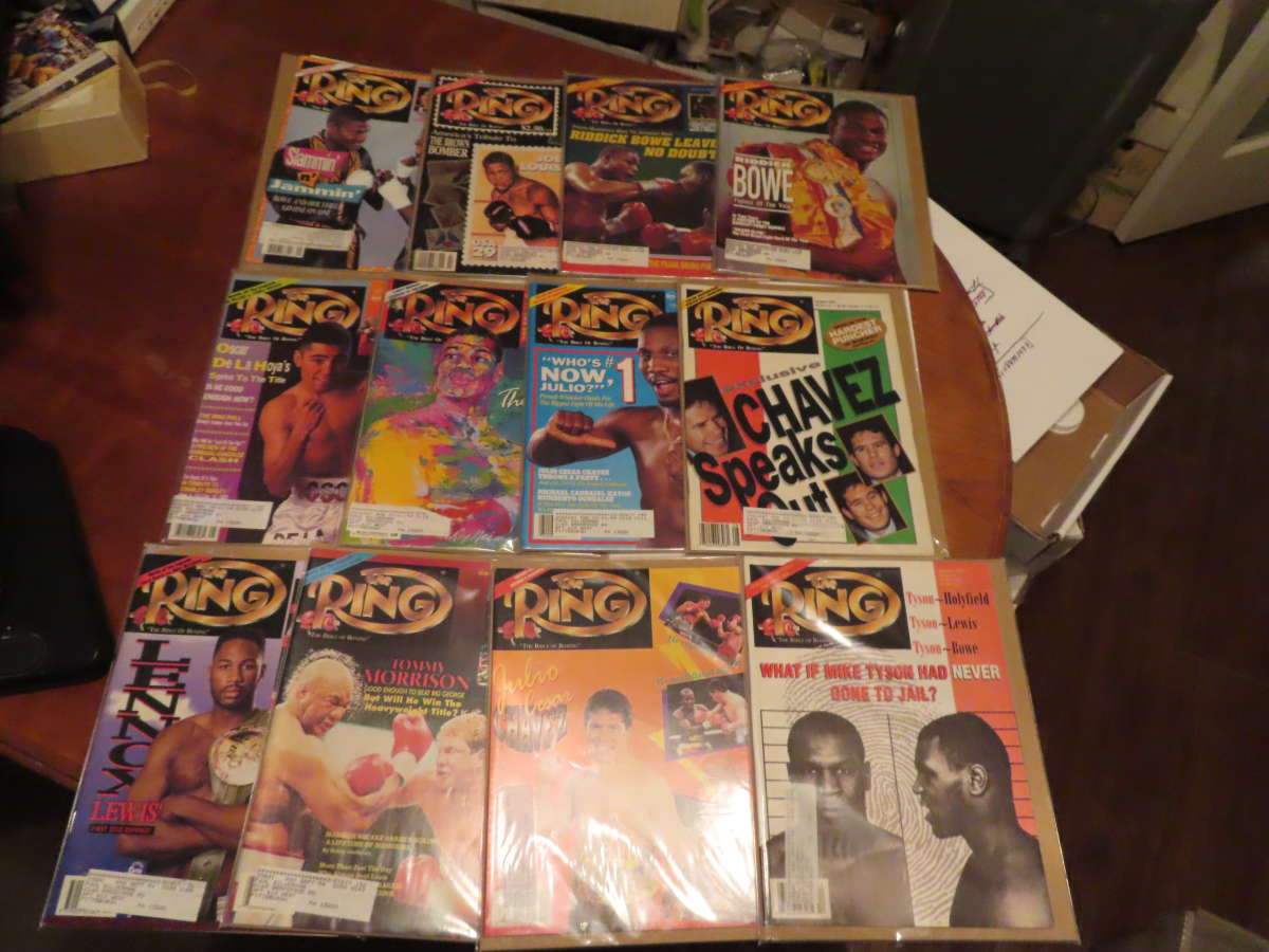 1993 Ring Magazine nice condition 12 issues full year em/nm