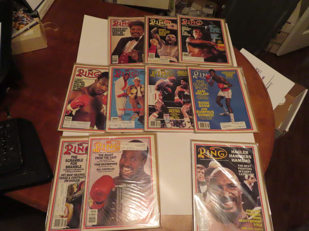 1984 Ring Magazine nice condition 10/12 issues em/nm