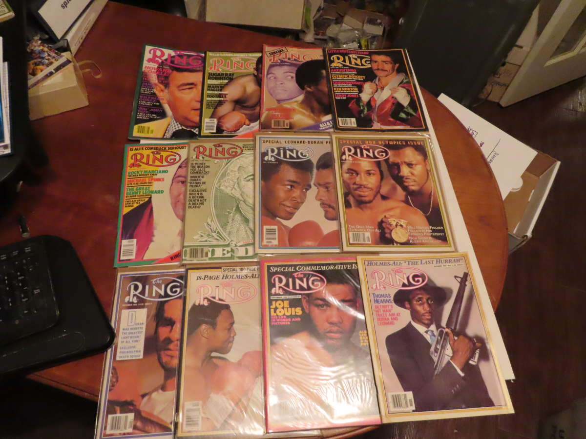 1980 Ring Magazine nice condition 12 issues full year em/nm ali