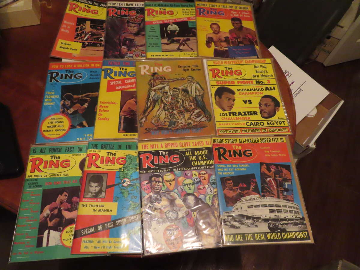 1975 Ring Magazine 12 issues full year em/nm Muhammad Ali