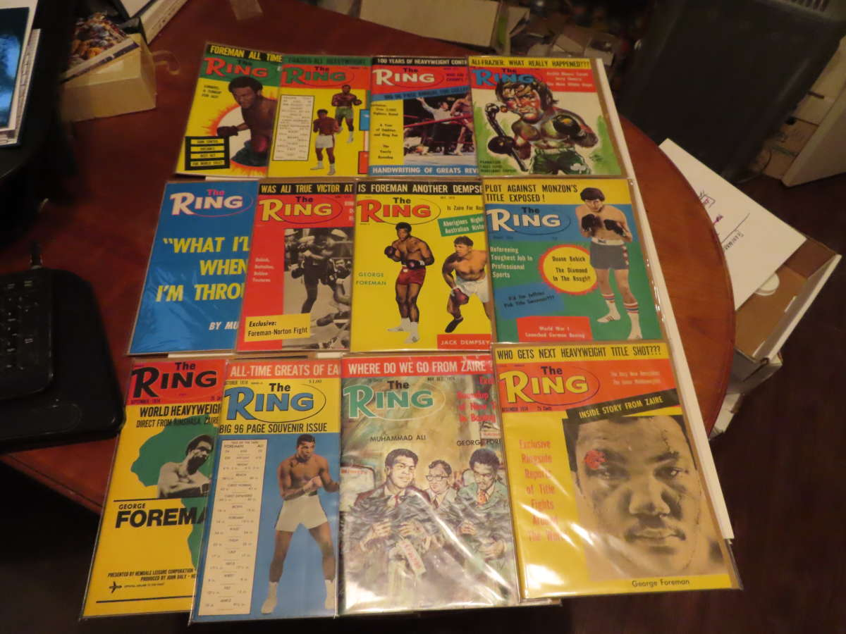 1974 Ring Magazine 12 issues full year em/nm Muhammad Ali
