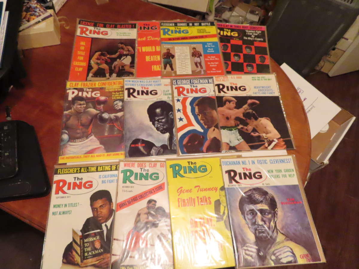 1971 Ring Magazine 12 issues full year em/nm Muhammad Ali