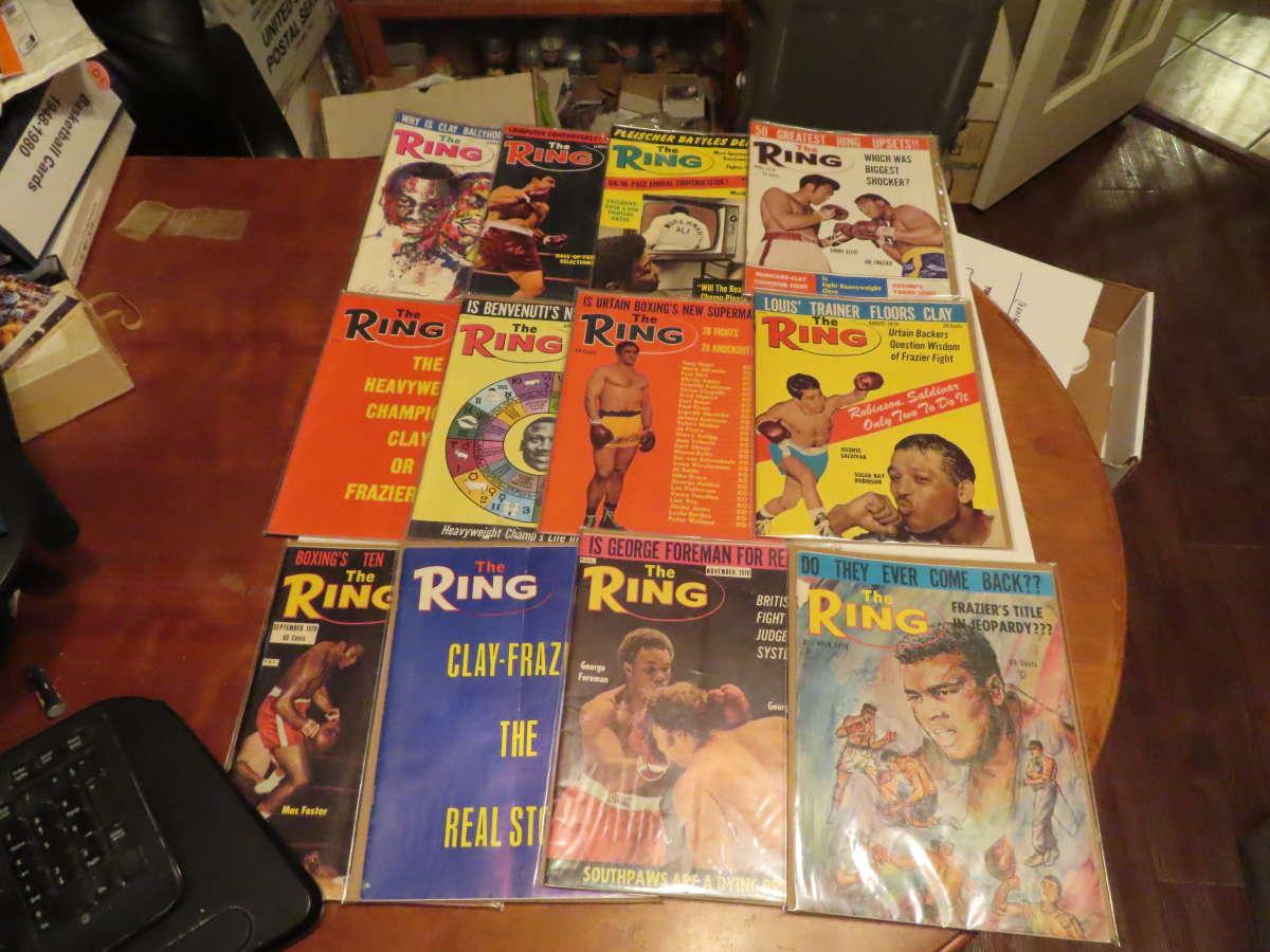 1970 Ring Magazine 12 issues full year em Muhammad Ali