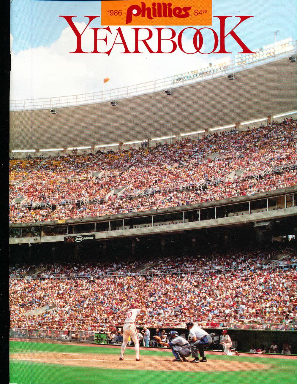 1986 Philadelphia Phillies Yearbook nm bxyb