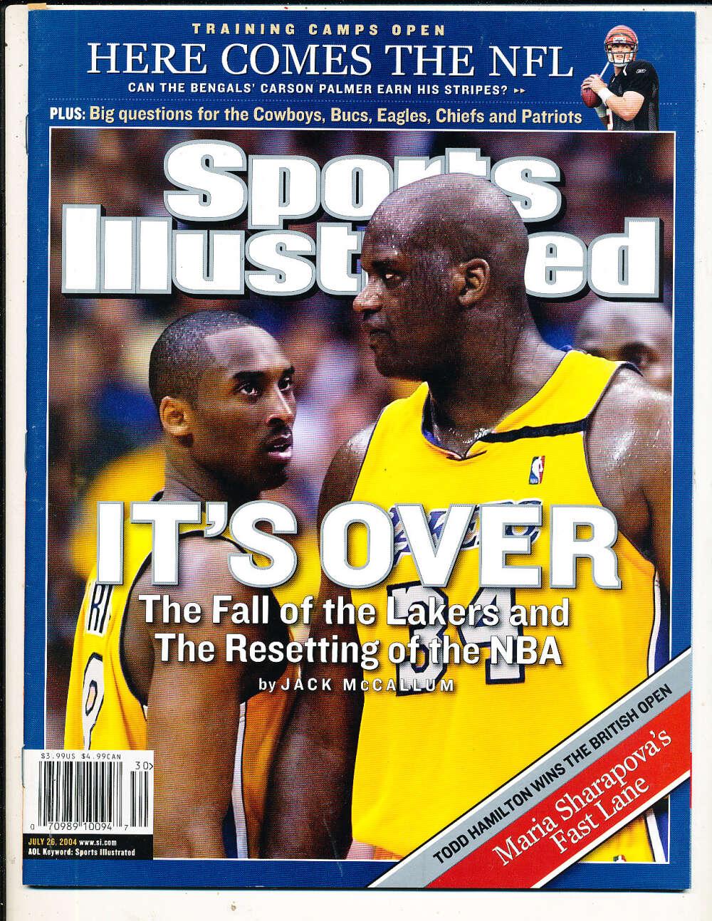 7/26 2004 Kobe Bryant Shaq Lakers Sports Illustrated mint no label