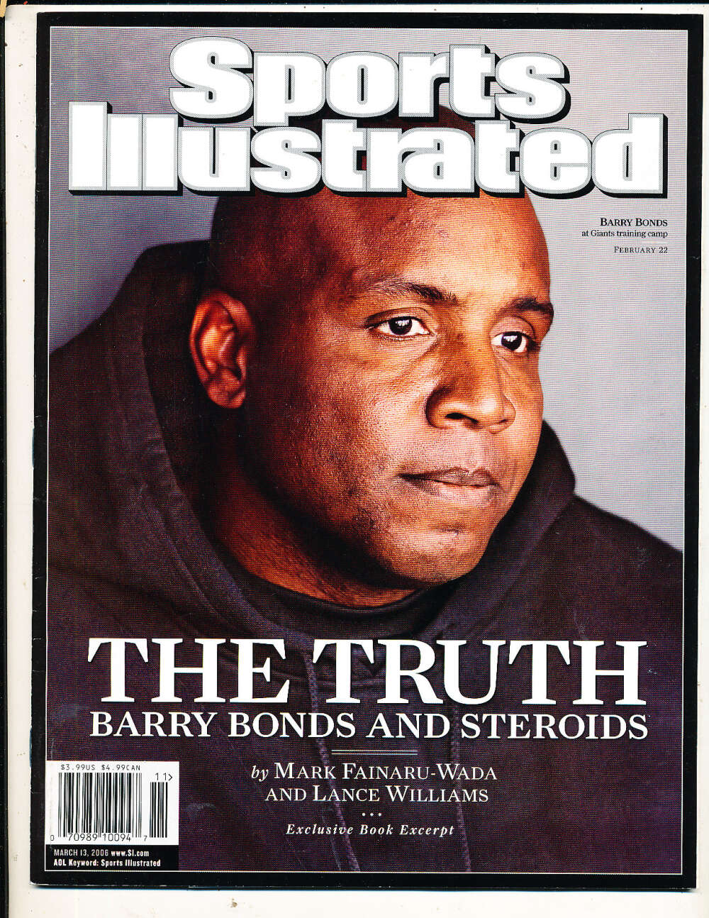 3/13 2006 Barry Bonds Giants Sports Illustrated mint no label