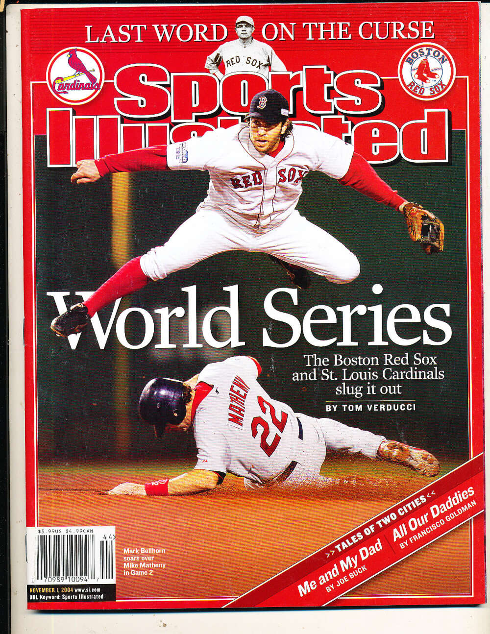 11/1 2004 Mark Bellhorn Red Sox Sports Illustrated mint no label