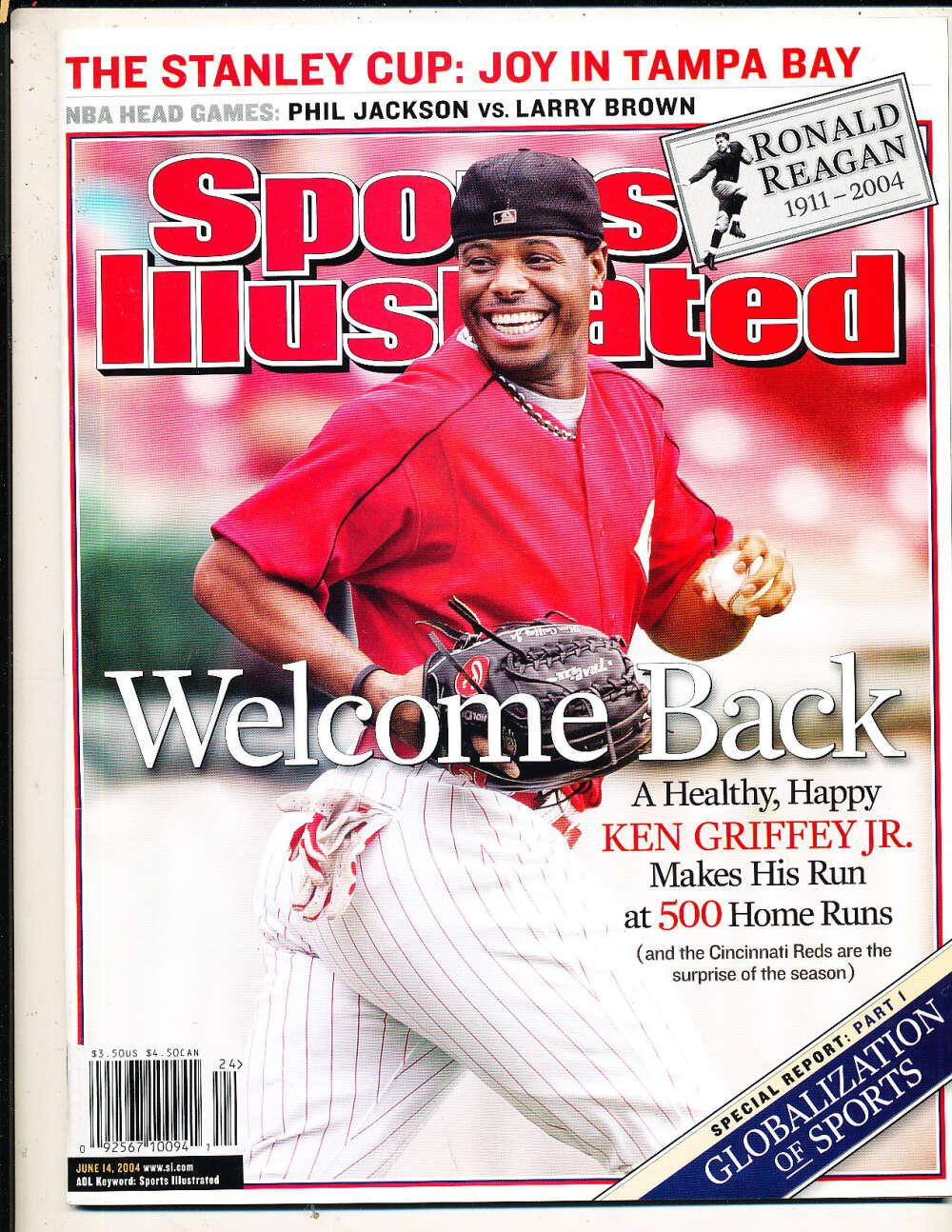 6/14 2004 Ken Griffey Jr Reds Sports Illustrated mint no label