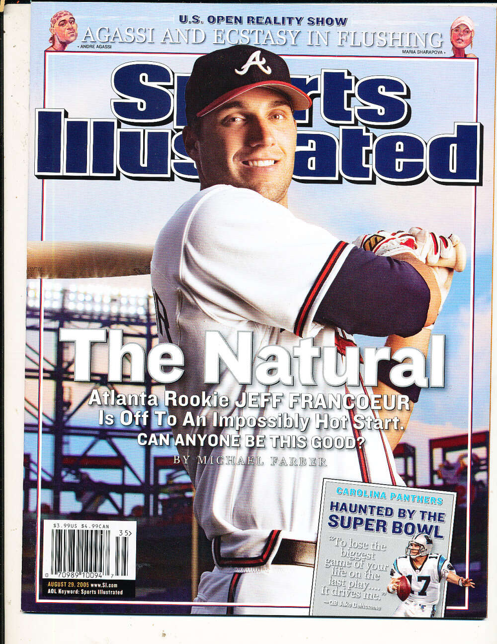 8/29 2005 Jeff Francoeur Braves Sports Illustrated mint no label