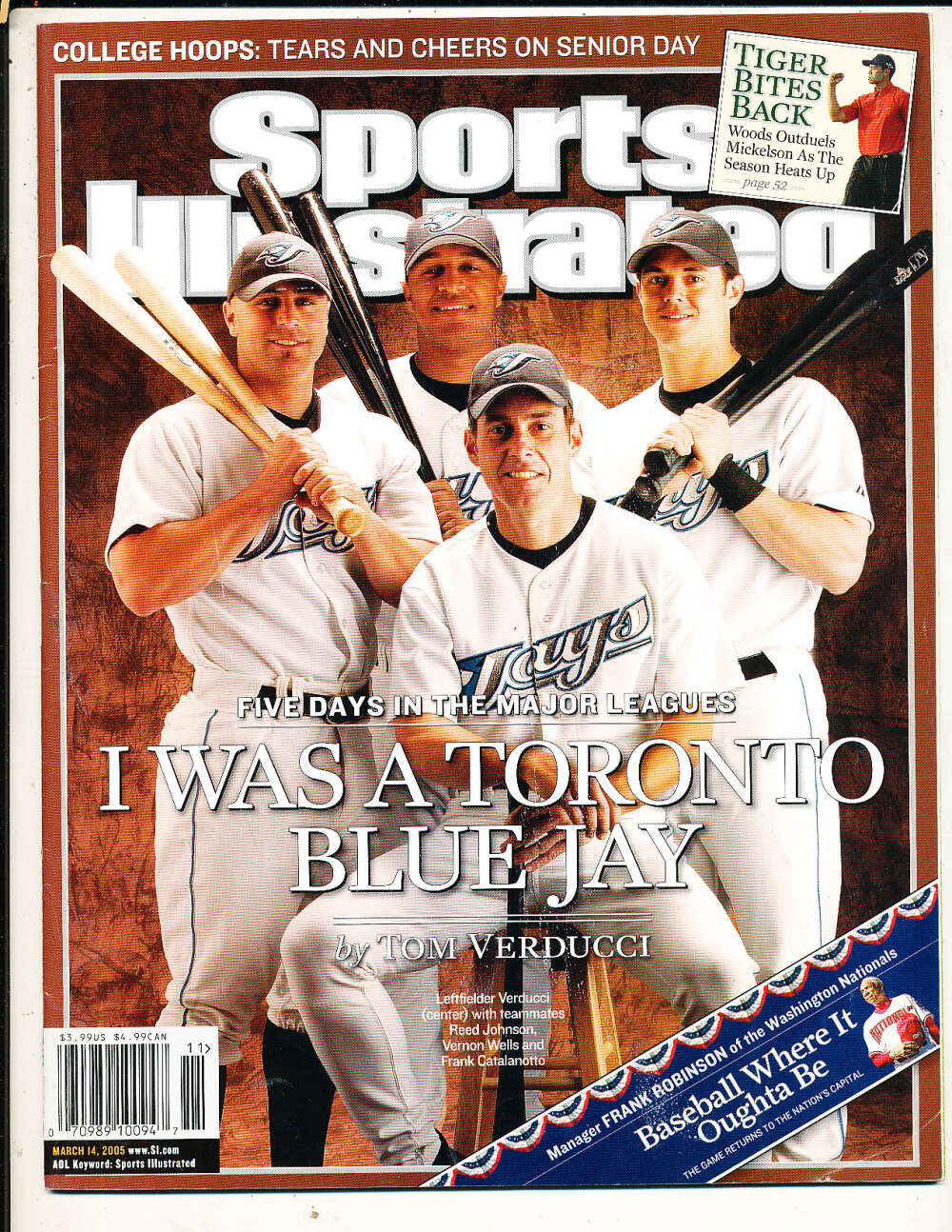 3/14 2005 Blue Jays Vernon Wells Sports Illustrated mint no label