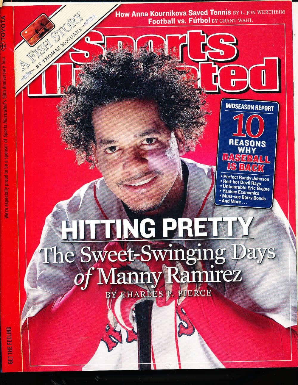 7/5 2004 Manny Ramirez Boston Red Sox Sports Illustrated mint no label sibx2004