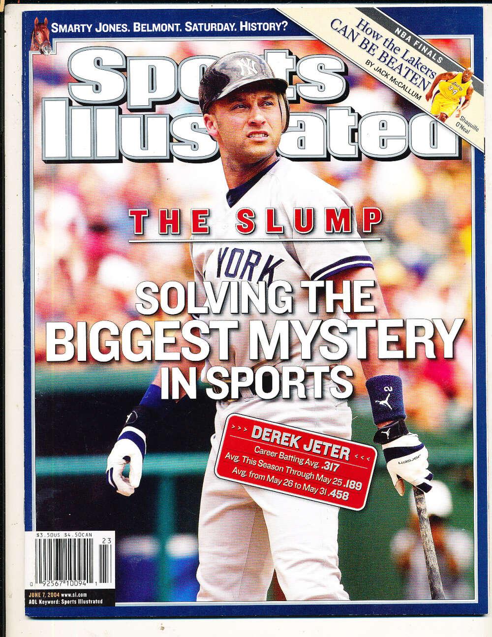 6/7 2004 Derek Jeter Yankees Sports Illustrated mint no label