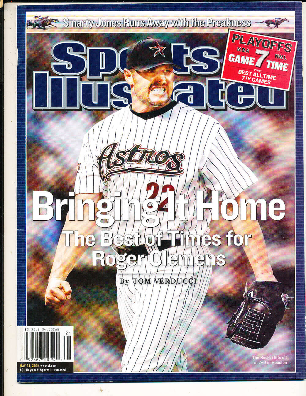 5/24 2004 Roger Clemens Astros Sports Illustrated mint no label