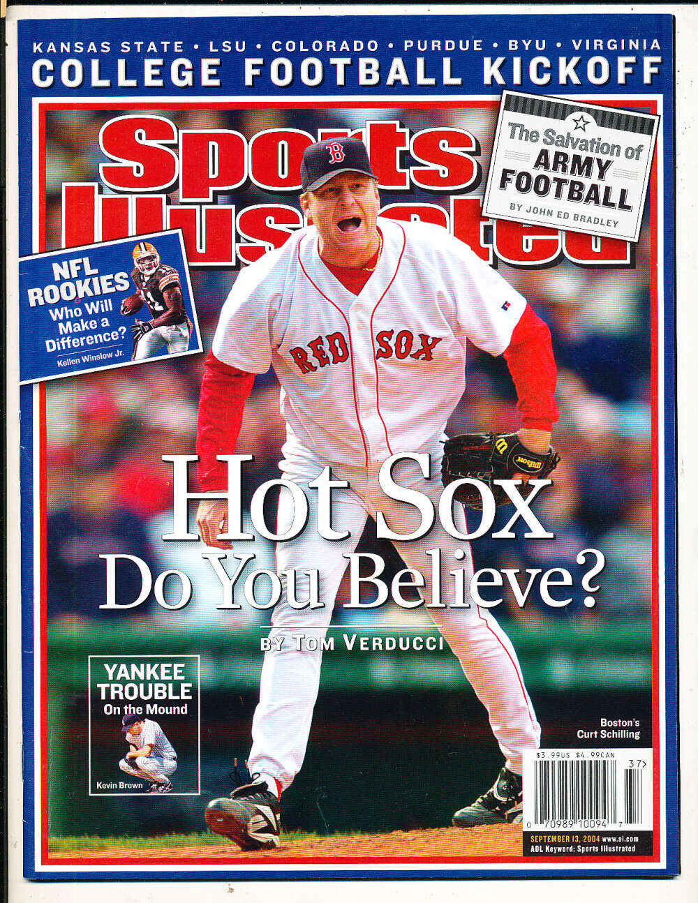 9/13 2004 Curt Schilling Red Sox Sports Illustrated mint no label