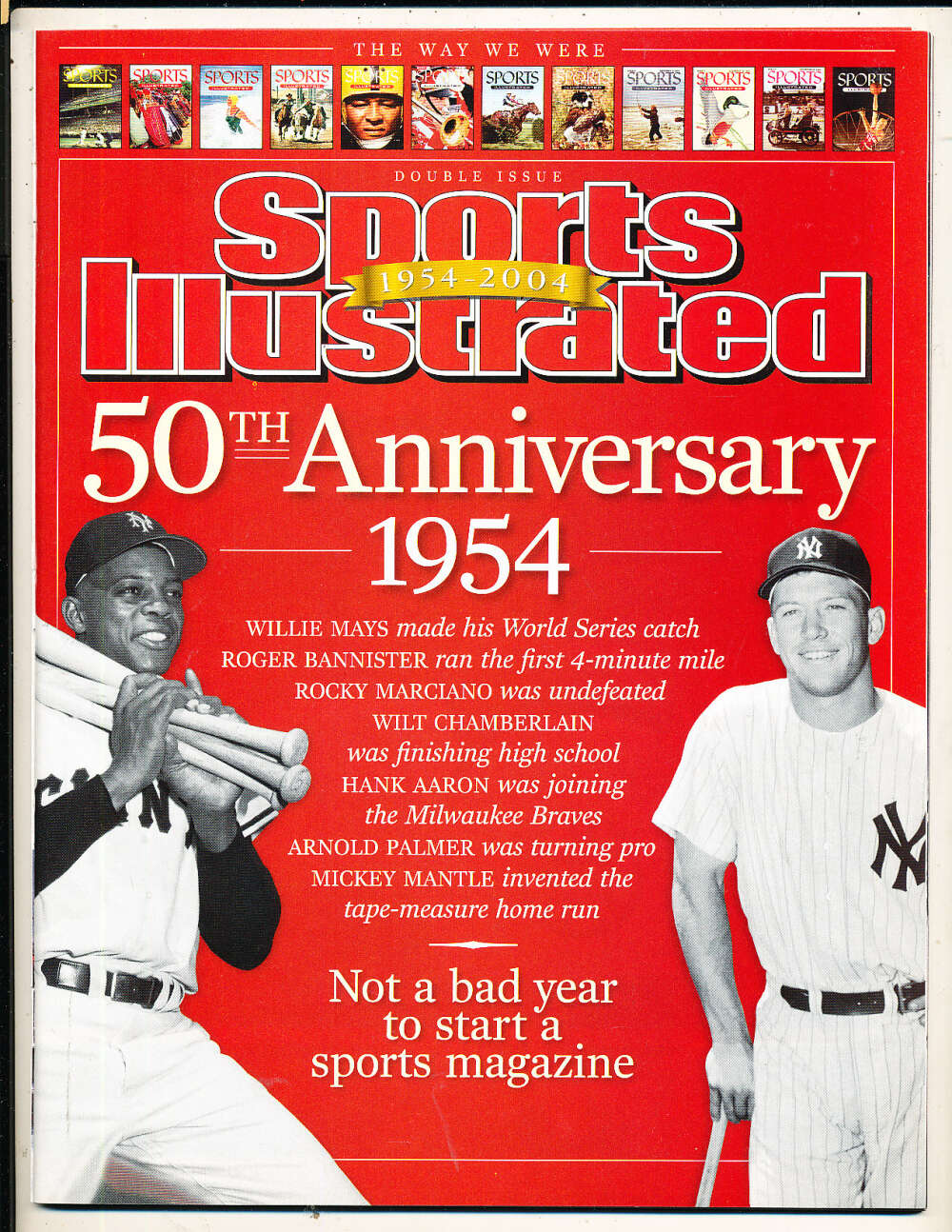 2004 50th ann Mickey Mantle Sports Illustrated mint no label