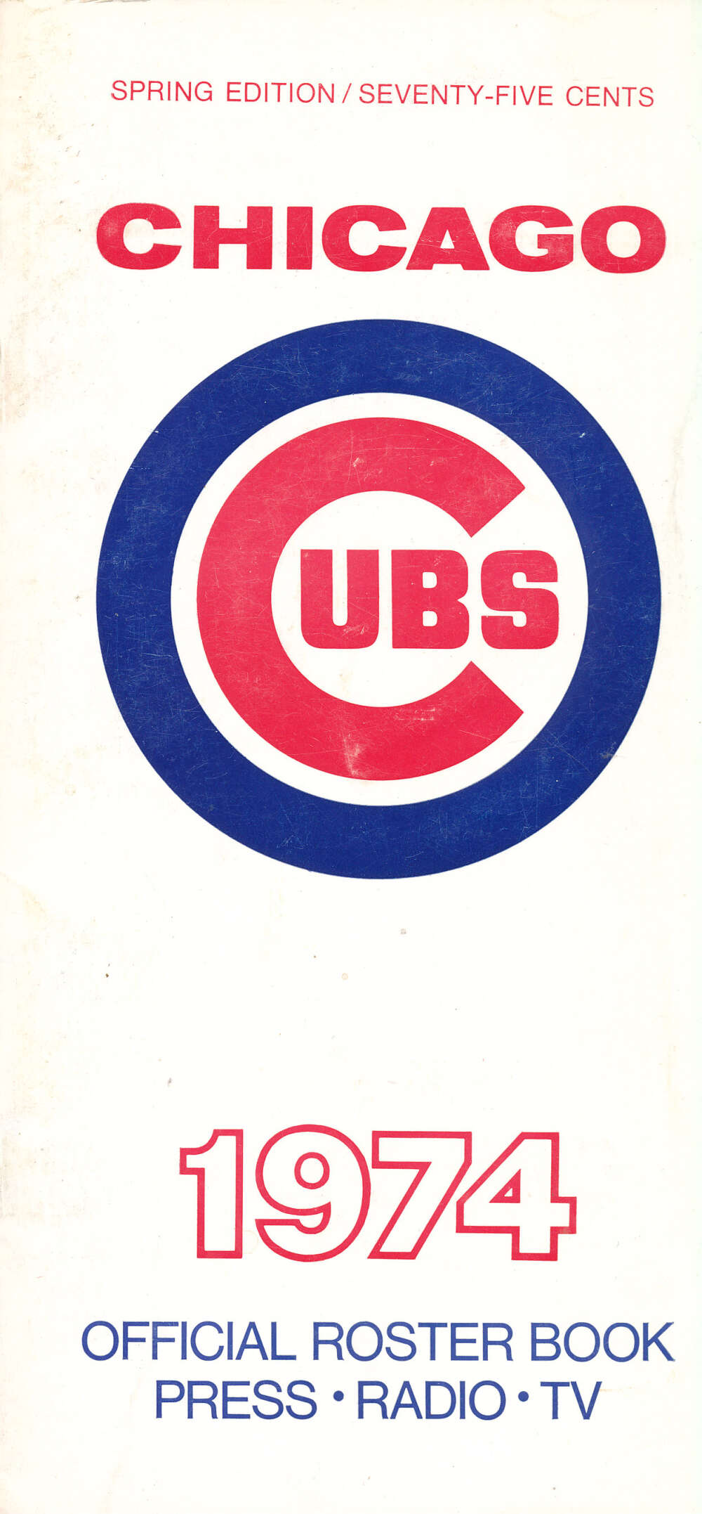 1974 chicago cubs spring edition Media Guide bx14