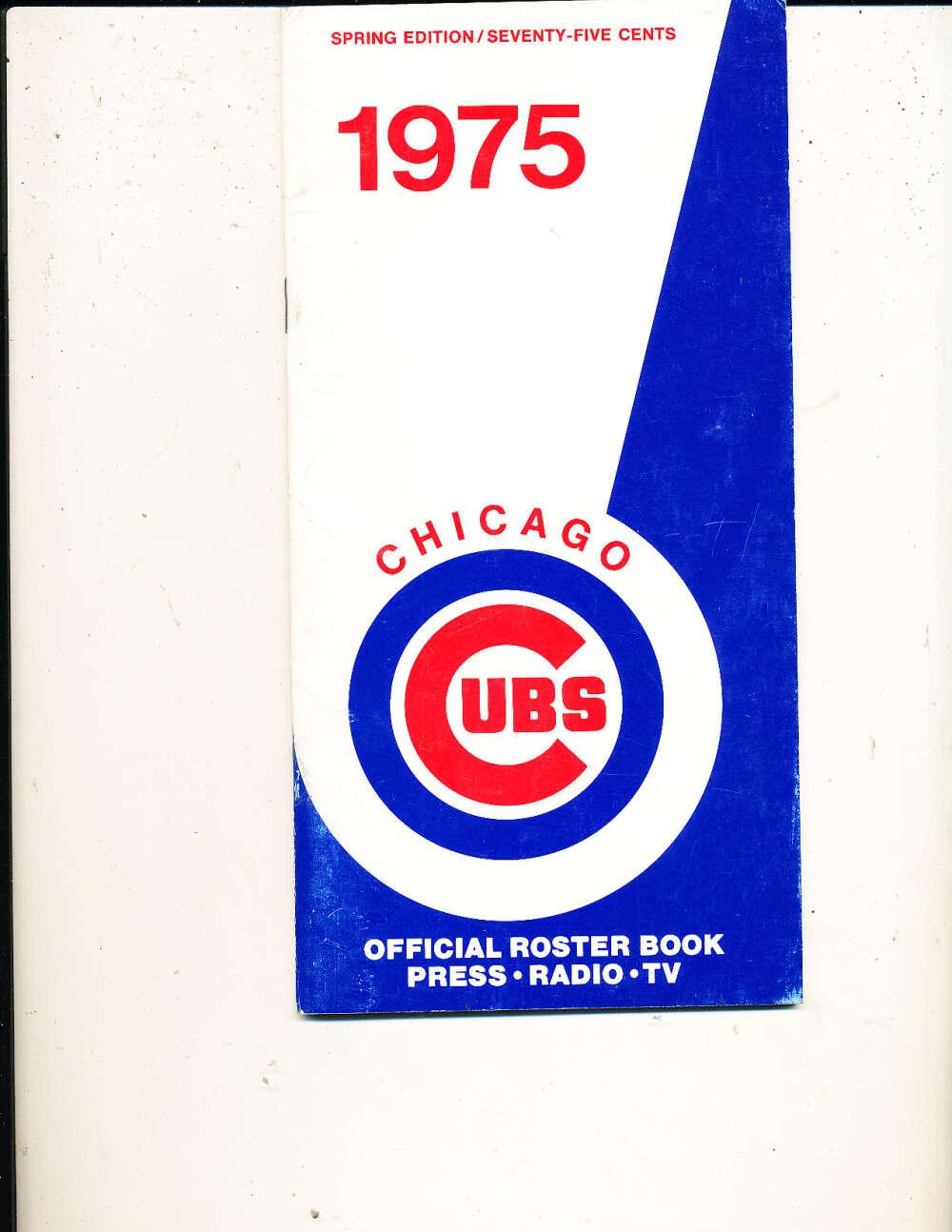 1975 Chicago Cubs Spring Baseball Media Guide