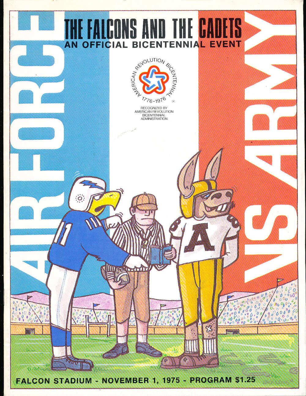 11/1 1975 Air force vs Army football program cfbx17