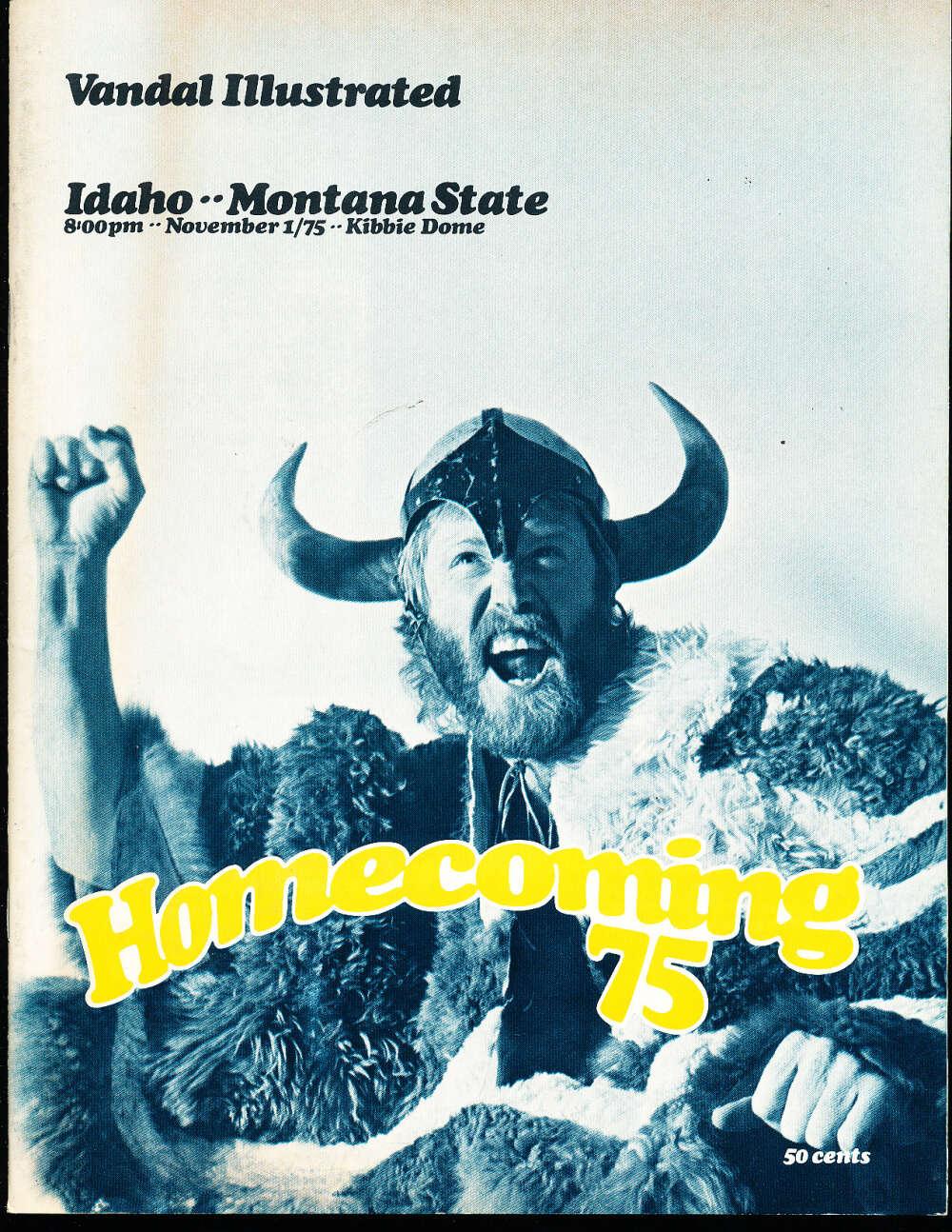 11/1 1975 Idaho vs Montana State football program cfbx17