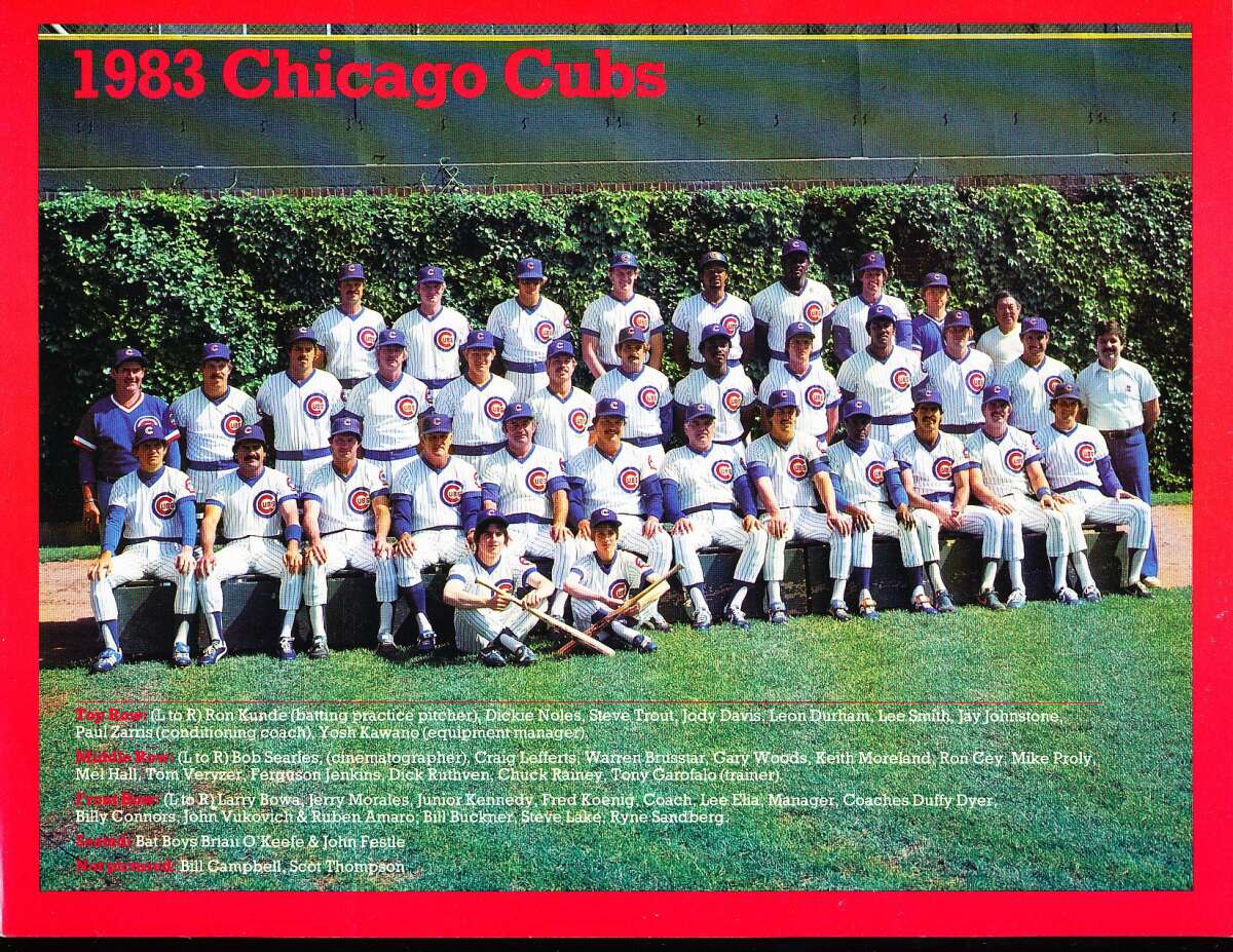 1983 Chicago cubs Team Picture 8.5 x 11