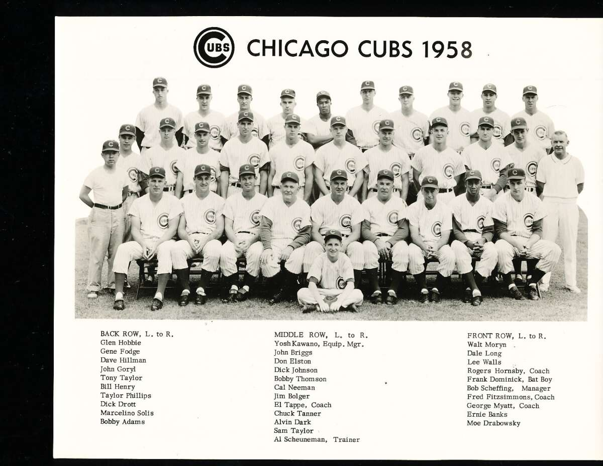 1958 Chicago cubs Team Picture 8 x 10