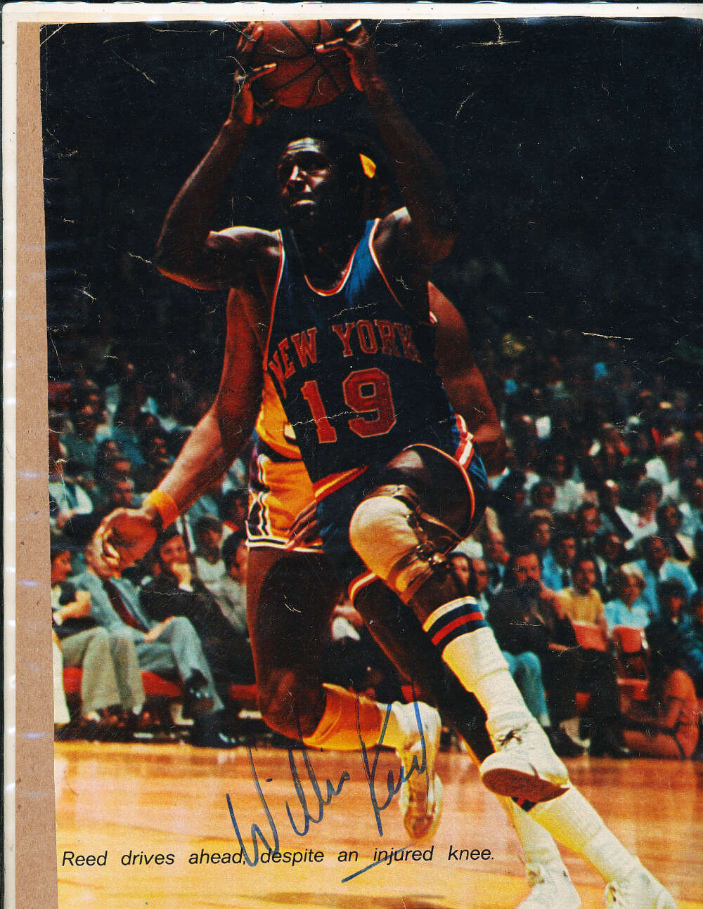 Willis Reed New York Knicks signed 8x10 magazine picture