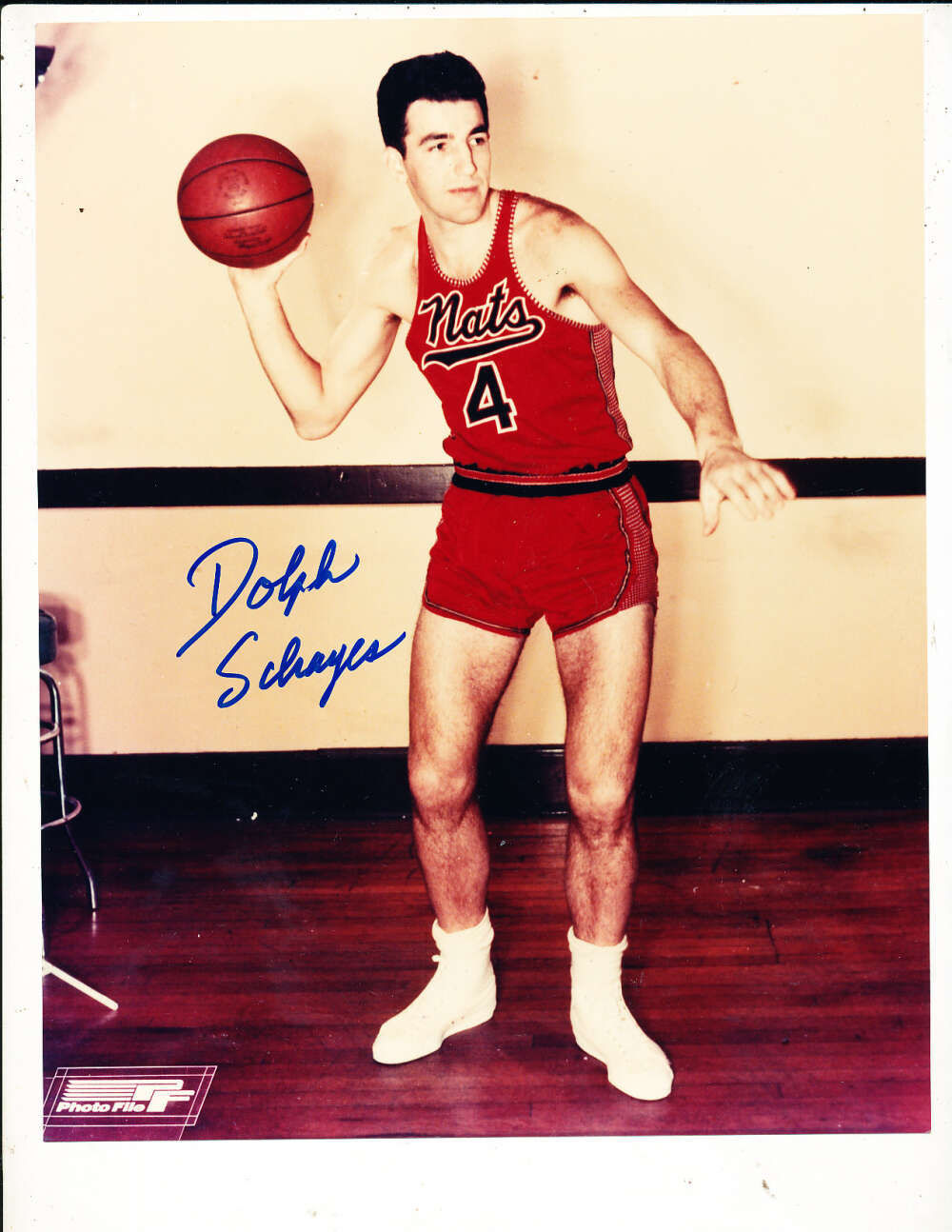 Dolph Schayes Nationals Signed 8x10 photo