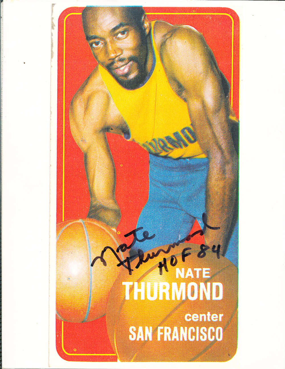 Nate Thurmond Warriors signed 8x10 photo of 69 card