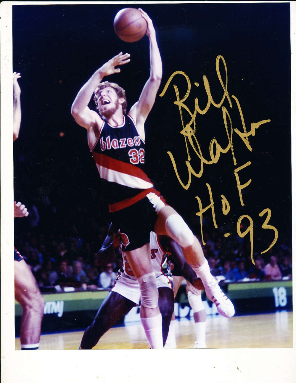 Bill Walton HOF 93 Blazers signed 8x10 photo
