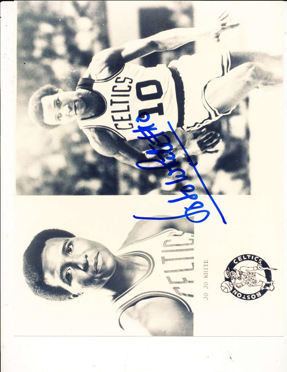 Jo Jo White Boston Celtics signed 8x10 photo