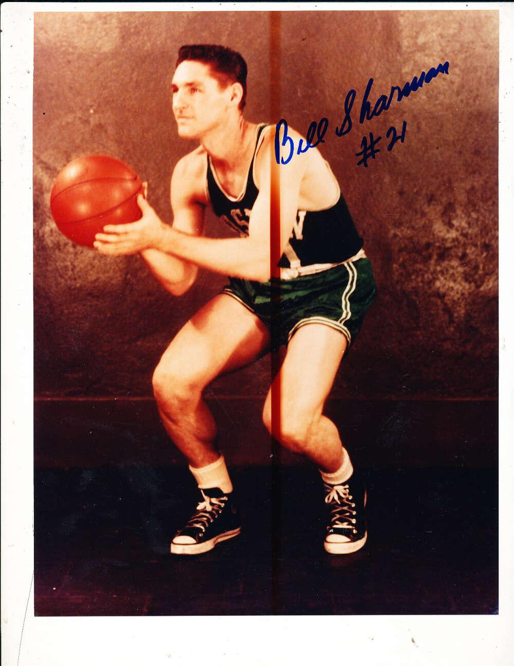Bill Sharman Boston Celtics color signed 8x10 photo