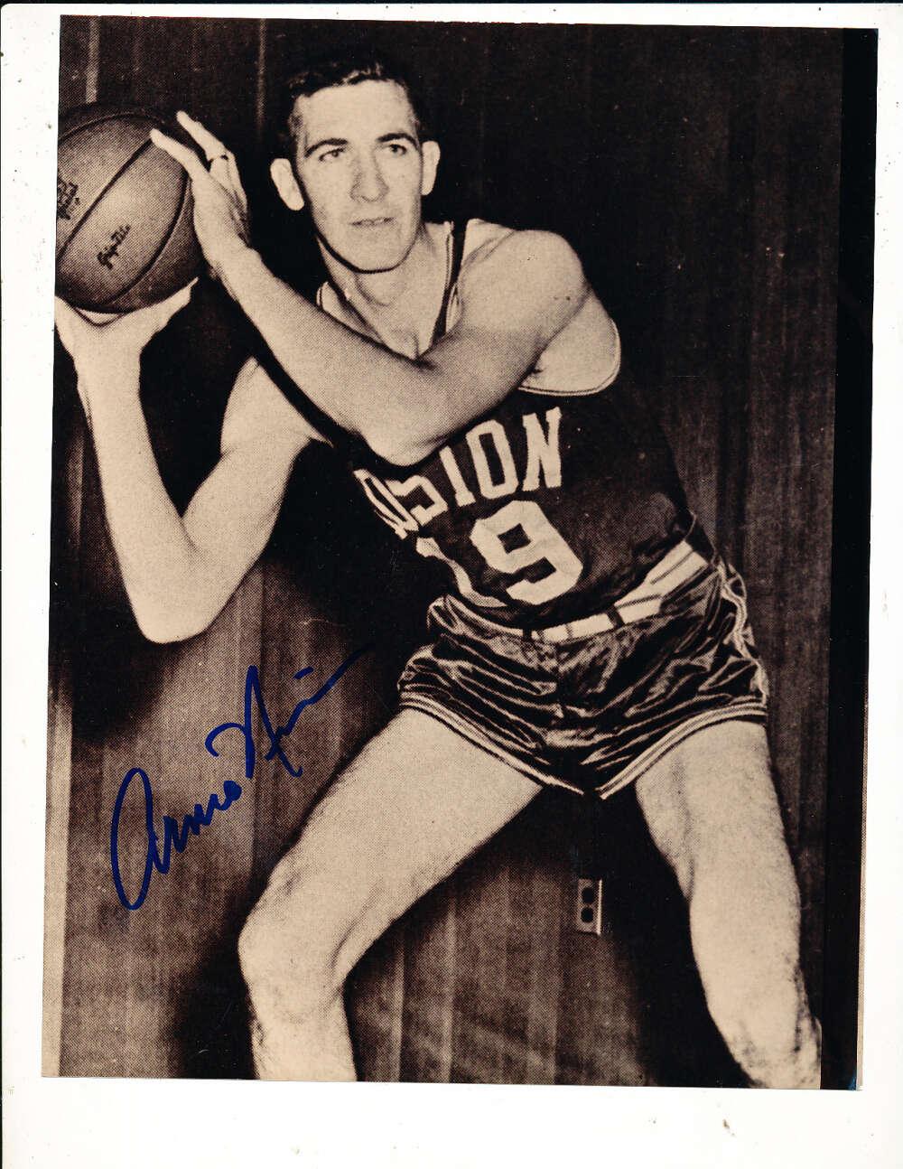 Arnie Risen Boston Celtics signed 8x10 photo