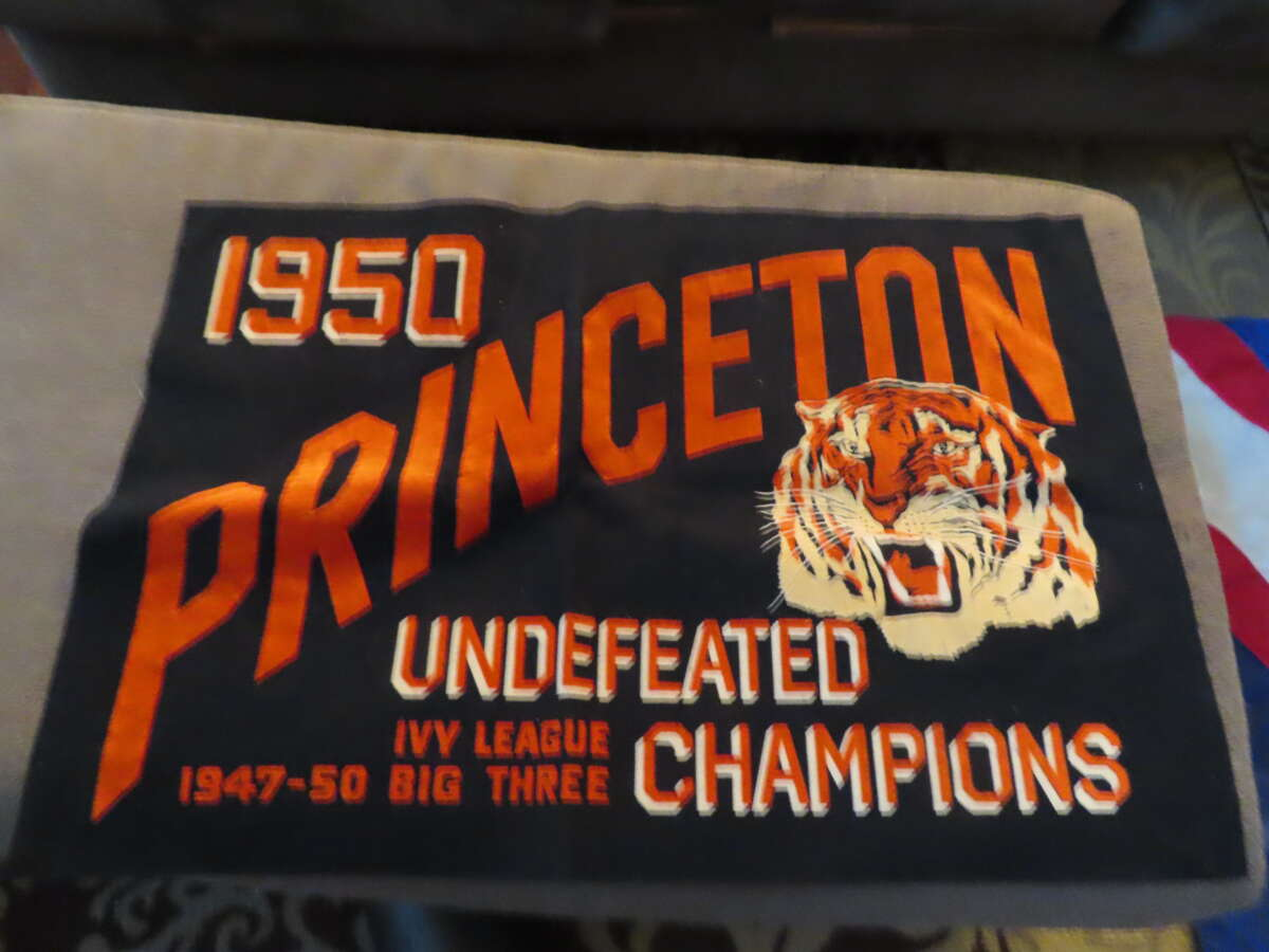 1950 Princeton Undefeated Champions square banner pennant 34x24