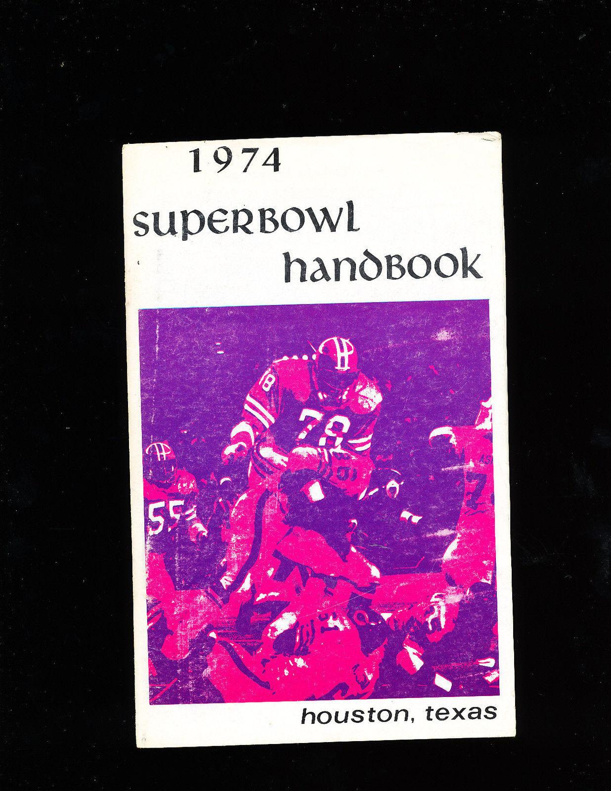 1974 Superbowl Handbook Houston Texas guide