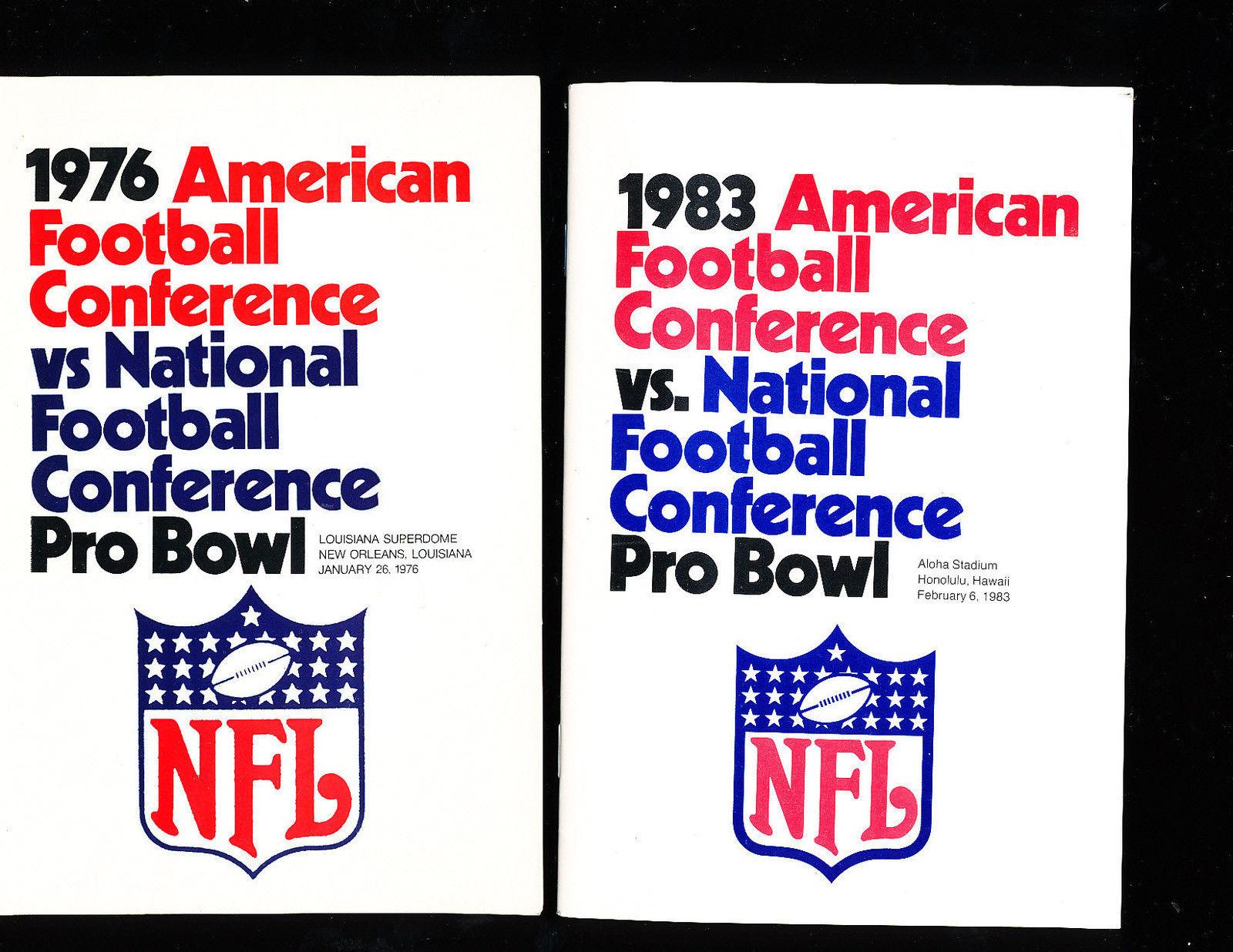 1976 Pro Bowl AFC vs NFC  Press Media Guide