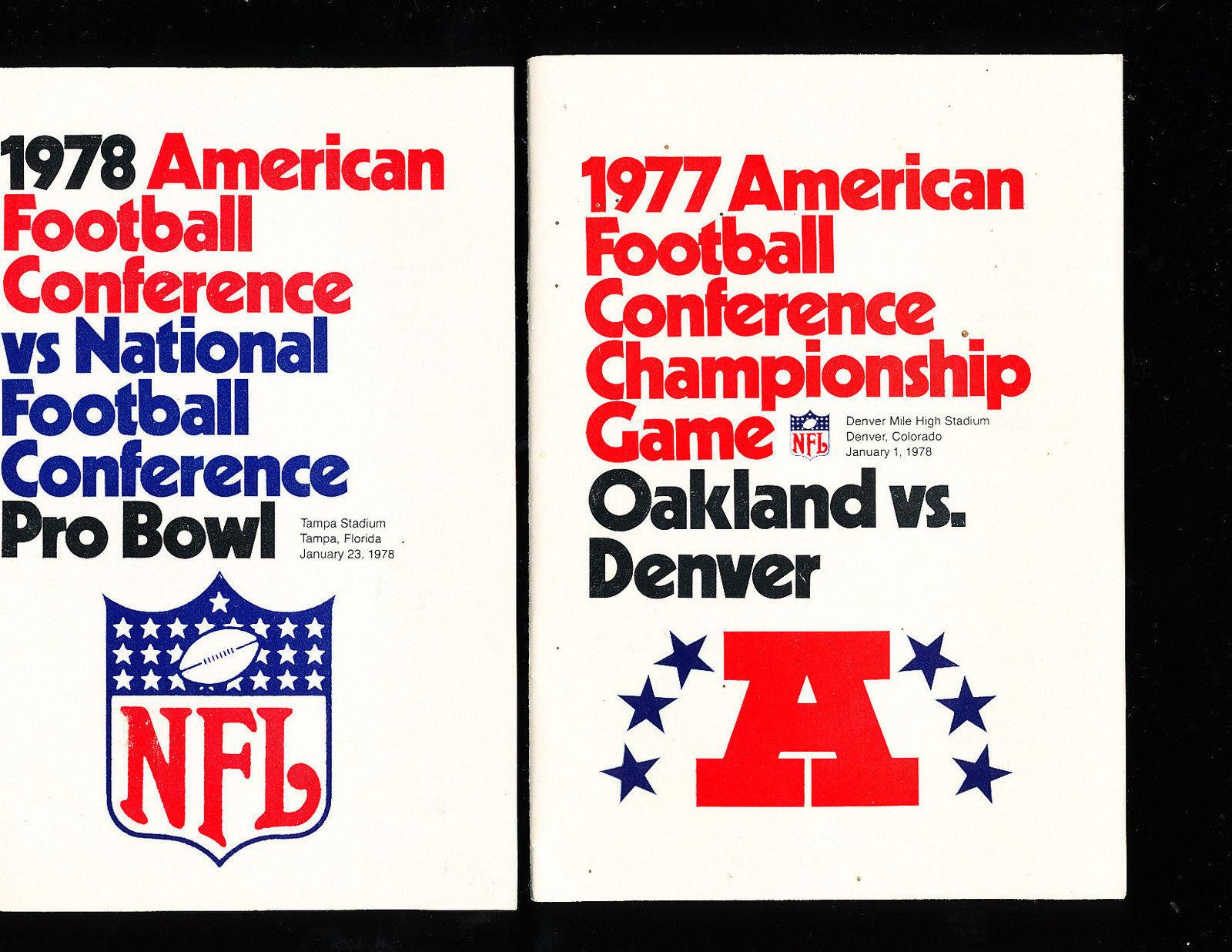 1978 AFC vs NFC Pro Bowl Press Media Guide