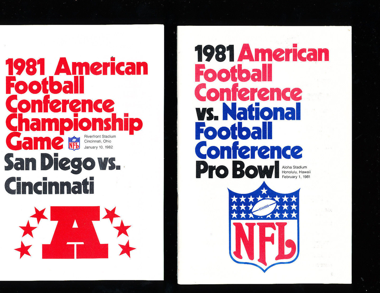 1981 AFC vs NFC Pro Bowl Press Media Guide