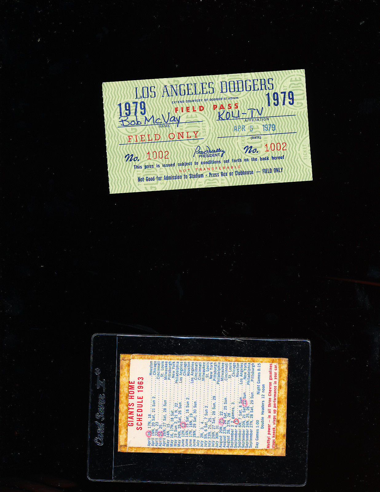 Candestick Parking pocket schedule 1963
